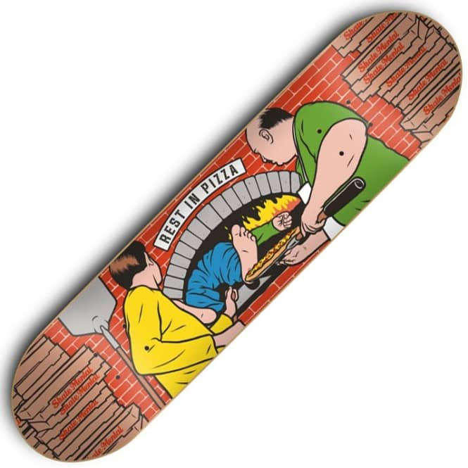Skate Mental Rest In Pizza Skateboard Deck 8.25