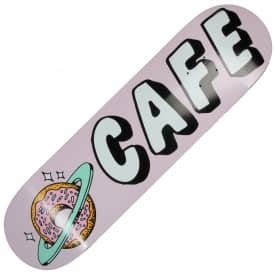 Skateboard Cafe Planet Donut Pink Skateboard Deck 7.75""