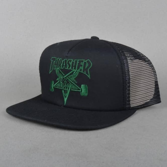 Thrasher Skategoat Embroidered Mesh Cap - Black Green - SKATE ... 58331cf8780