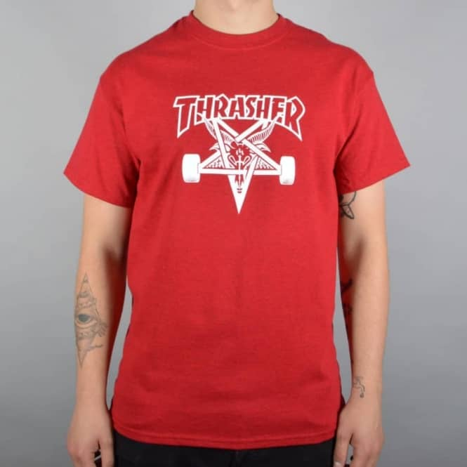 Thrasher Skategoat Skate T-Shirt - Antique Cherry Red