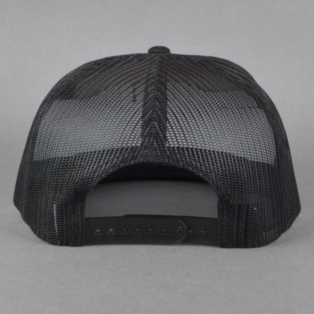 455f1a83420 Skeleton Key MFG Middle Finger Trucker Cap - All Black - SKATE ...