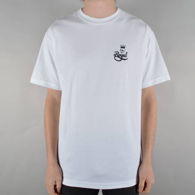 Royal Trucks Skull Script Skate T-Shirt - White