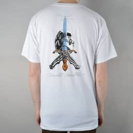 Skull & Sword Skate T-Shirt - White