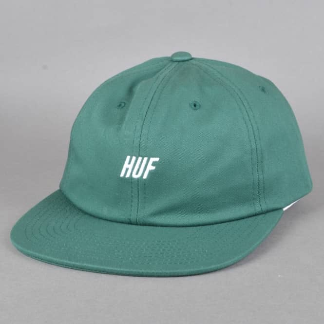 HUF Slant 6 Panel Strapback Cap - Dark Green