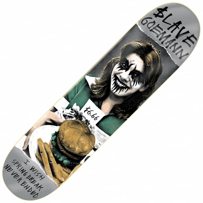 Slave Skateboards Goemann Black Metal Skateboard Deck 8.25