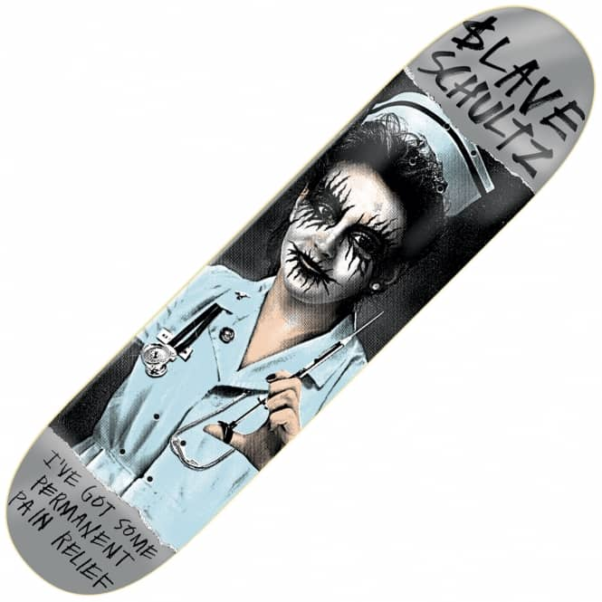 Slave Skateboards Schultz Black Metal Skateboard Deck 8.5