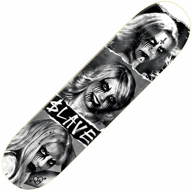 Slave Skateboards Team Black Metal Skateboard Deck 8.5