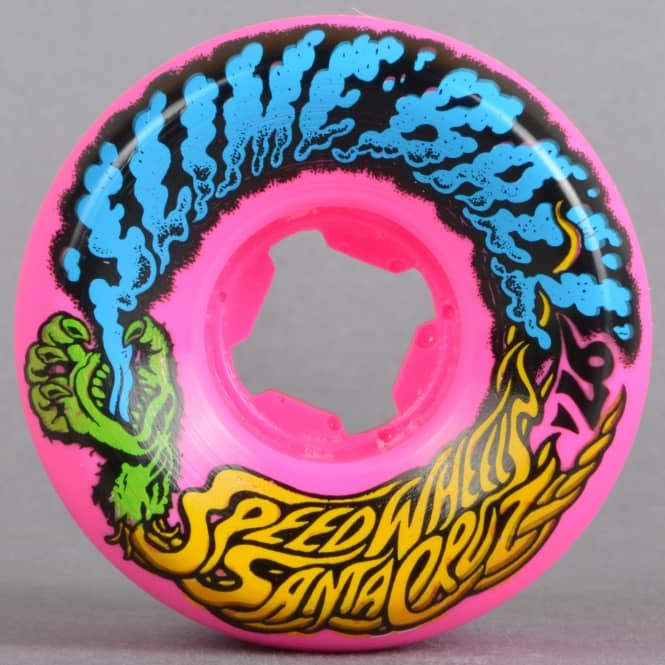 Santa Cruz Skateboards Slime Ball Vomits Mini Pink 97A Skateboard Wheels 54mm