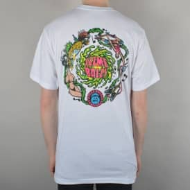 Santa Cruz Skateboards Slime Balls Vomit Skate T-Shirt - White