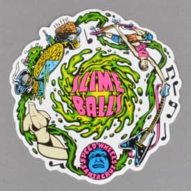Slime Balls Vomits Skateboard Sticker 3.5