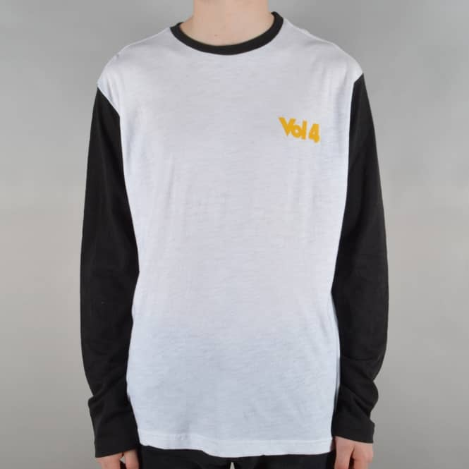 VOL 4 (Volume 4) Slub Longsleeve Tee - White/Black