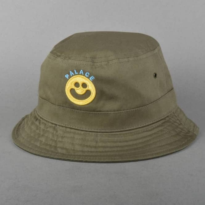 c865c78cfd0 Palace Skateboards Smiler Reversible Bucket Hat - Olive - SKATE ...