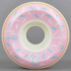 SML Wheels x Skate Cafe Donut V-Cut Skateboard Wheels 52mm