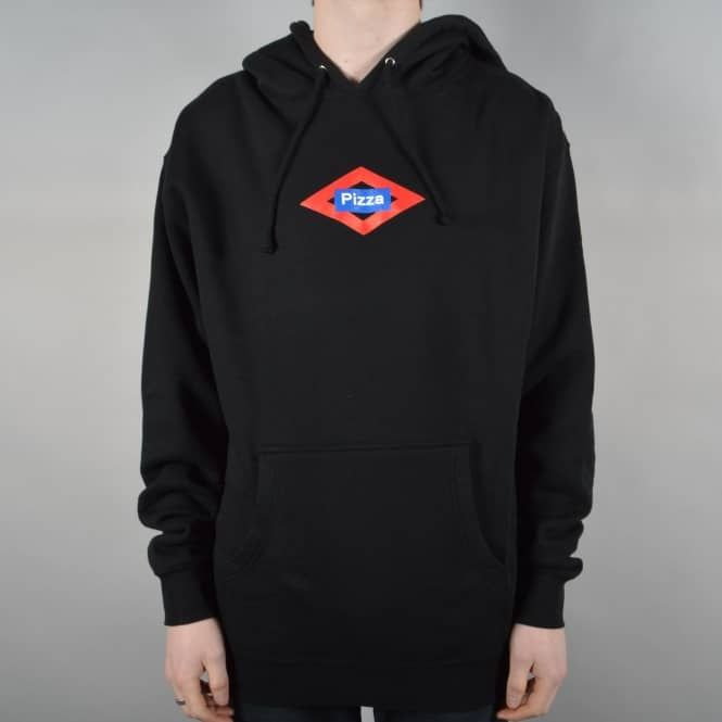 Pizza Skateboards Sol Logo Pullover Hoodie - Black