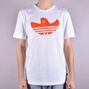 392f95f9 Solid Shmoo Skate T-Shirt - White/Collegiate Orange. Adidas Skateboarding  ...