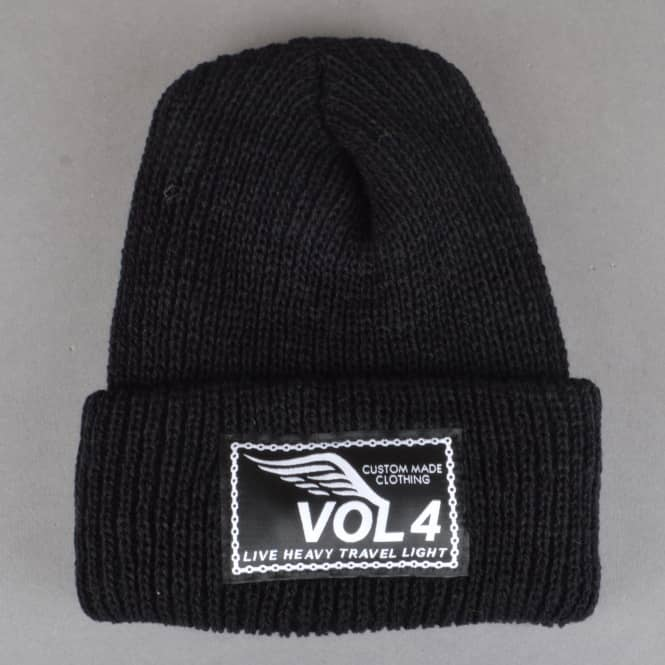 VOL 4 (Volume 4) Speedwing Fold Up Beanie - Black