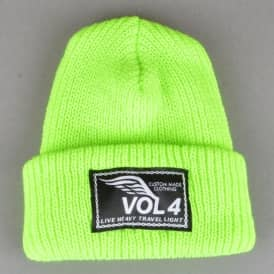 VOL 4 (Volume 4) Speedwing Fold Up Beanie - Neon Green