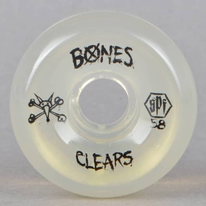 Bones Wheels SPF Clears Clear Skateboard Wheels 58mm