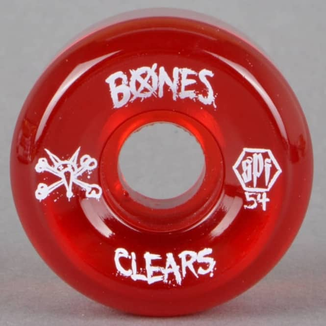 Bones Wheels SPF Clears Red Skateboard Wheels 54mm