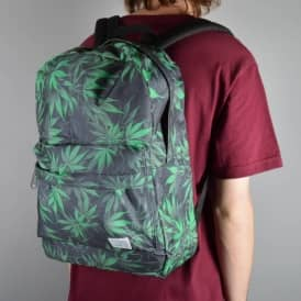 Spiral Grass Forest Backpack - Black/Green