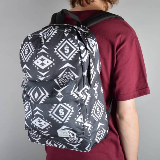 Spiral Backpacks Spiral Tribal Black Backpack - Black/White
