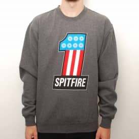 Spitfire #1 Crewneck Sweater - Charcoal