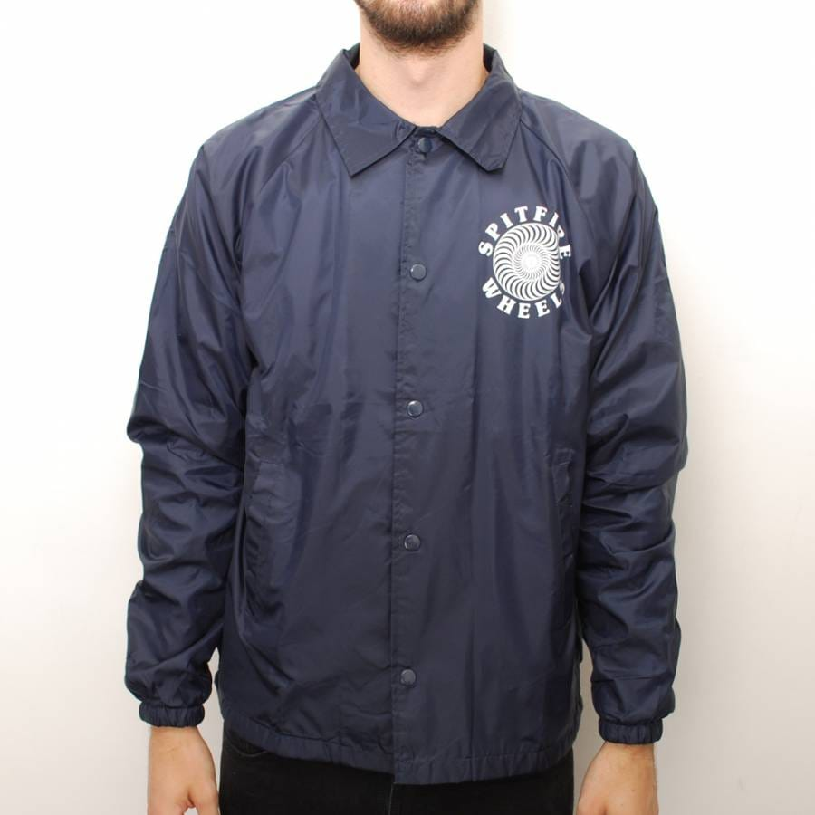 Spitfire wheels spitfire classic coach jacket navy for Coach jacket