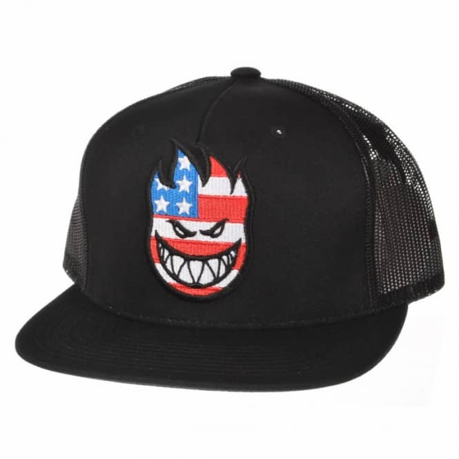74f95219125c6 Spitfire Wheels Spitfire Flaghead Trucker Cap Black - Caps from ...