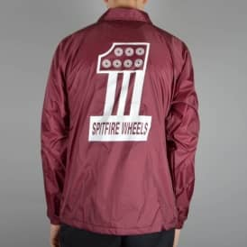 #1 Coaches Jacket - Maroon/White
