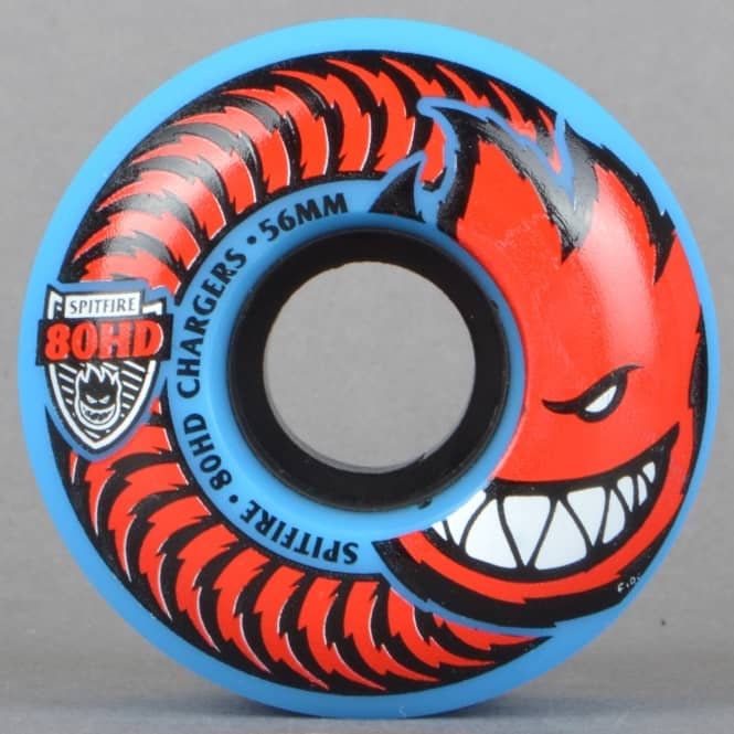 Spitfire Wheels 80HD Chargers Blue Classic Skateboard Wheels 56mm