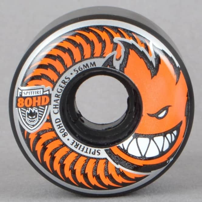 Spitfire Wheels 80HD Chargers Conical Black/Orange Skateboard Wheels 56mm