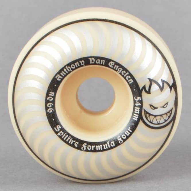 Spitfire Wheels AVE Whiteout Classic 99D Formula Four Skateboard Wheels 54mm