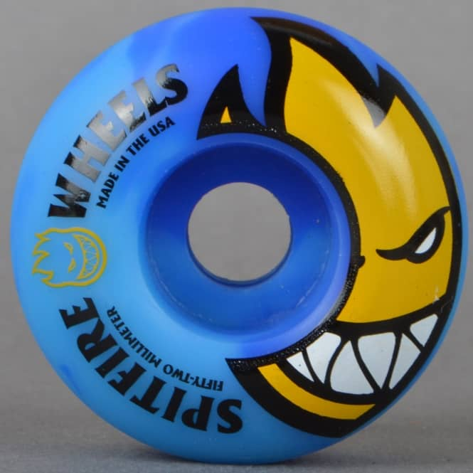 Spitfire Wheels Bighead Code Blue Swirls Skateboard Wheels 52mm