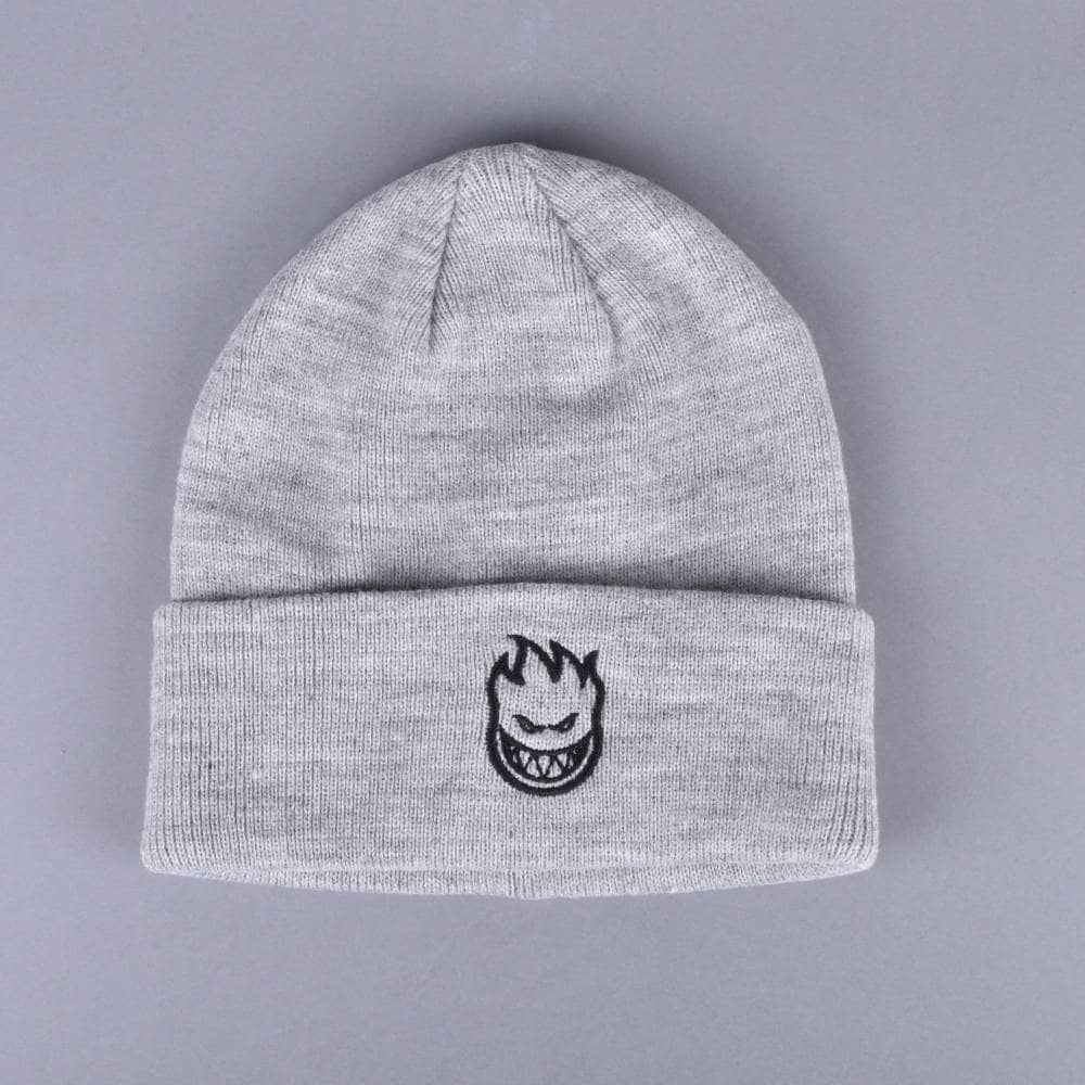 563851d29 Spitfire Wheels Bighead EMB Single Fold Beanie - Grey/Black