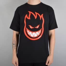 Spitfire Wheels Bighead Fill Skate T-Shirt - Black/Red