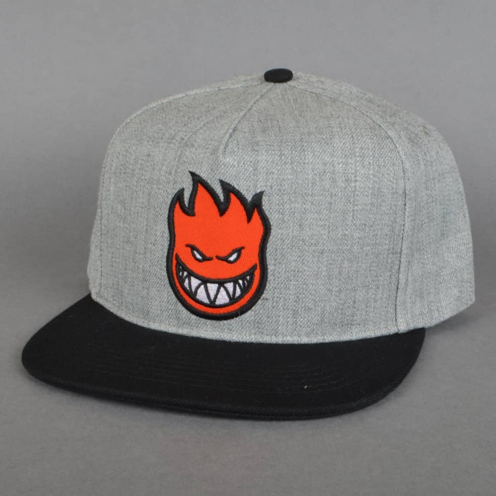 8a474d9a2247d0 Spitfire Wheels Bighead Fill Snapback Cap - Grey/Black/Red - SKATE ...