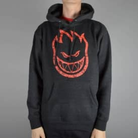 Spitfire Wheels Bighead Paisley Pullover Hoodie - Charcoal Heather/Red