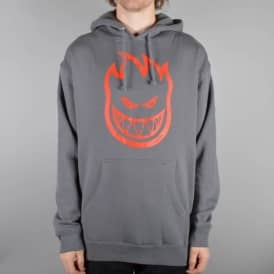Bighead Pullover Hoodie - Charcoal/Red