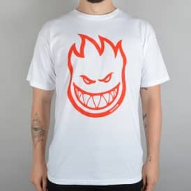 Spitfire Wheels Bighead Youth Skate T-Shirt - White