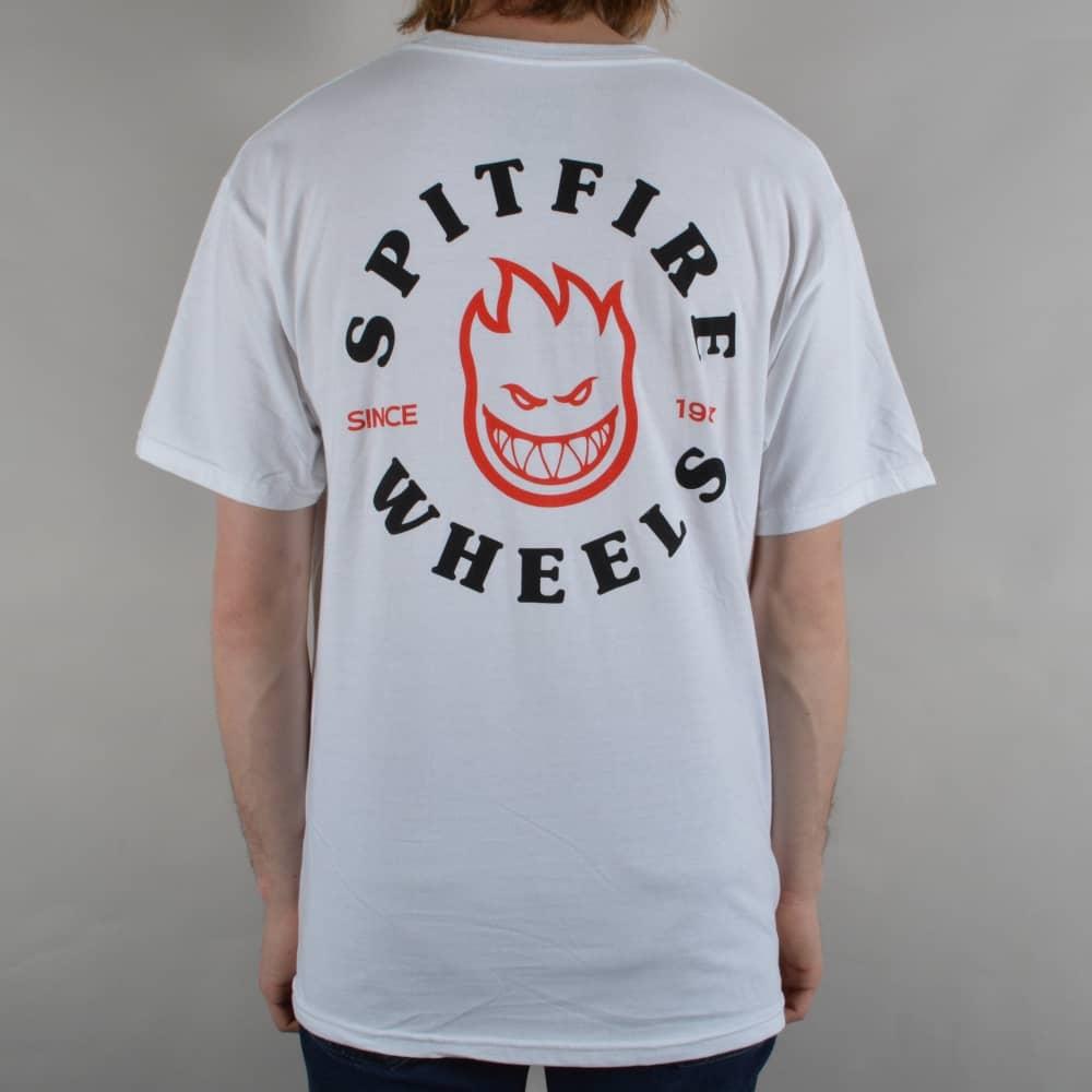 Classic Bighead Skate T-Shirt - White/Black/Red