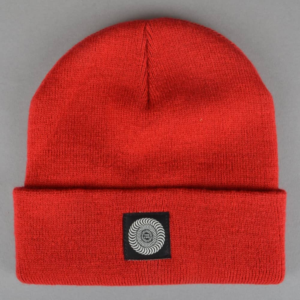 779eefe1072 Spitfire Wheels Classic Label Cuff Beanie - Red - SKATE CLOTHING ...