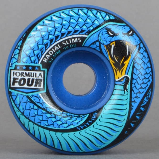 Spitfire Wheels Death Adder Radial Slims 99D Cobalt Blue Formula Four Skateboard Wheels 54mm
