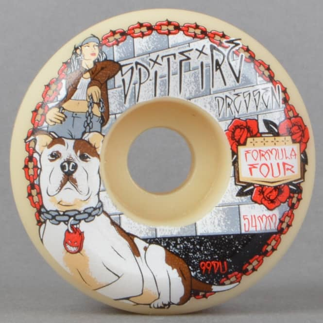 Spitfire Wheels Dressen Dia De Perros 99D Conical Formula Four Skateboard Wheels 54mm