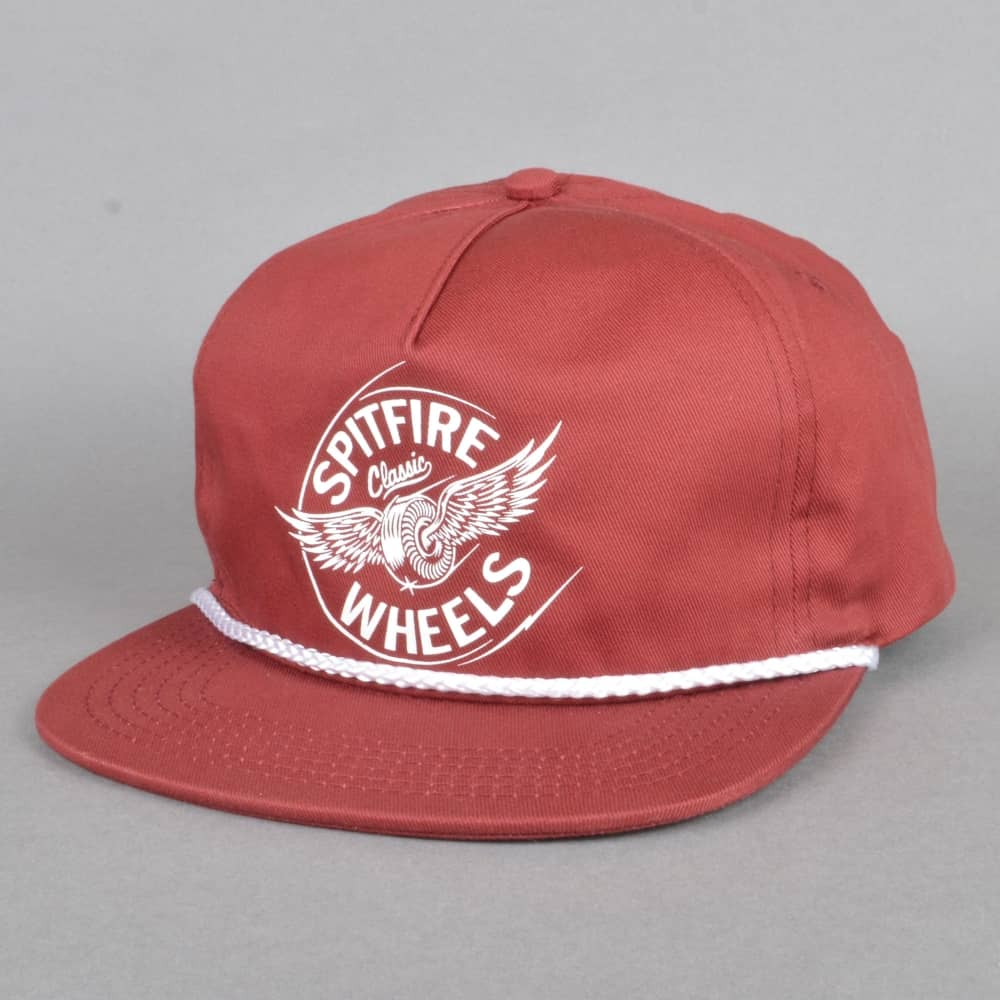 63a7f9a5680 Spitfire Wheels Flying Classic Snapback Cap - Maroon - SKATE ...