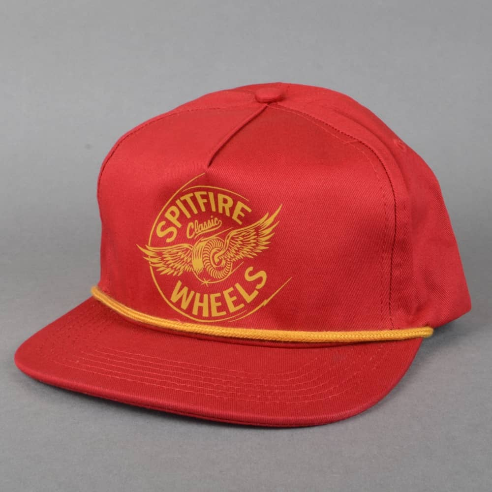 Spitfire Wheels Flying Classic Snapback Cap - Red - SKATE CLOTHING ... 6bff1990aa3