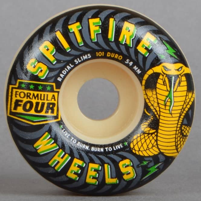 Spitfire Wheels Formula Four 101D Speed Kills Radial Slims Skateboard Wheels 54mm