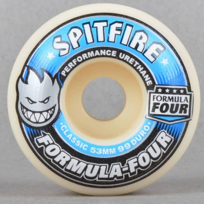 Spitfire Wheels Formula Four Classic 99 Duro Skateboard Wheels 53mm