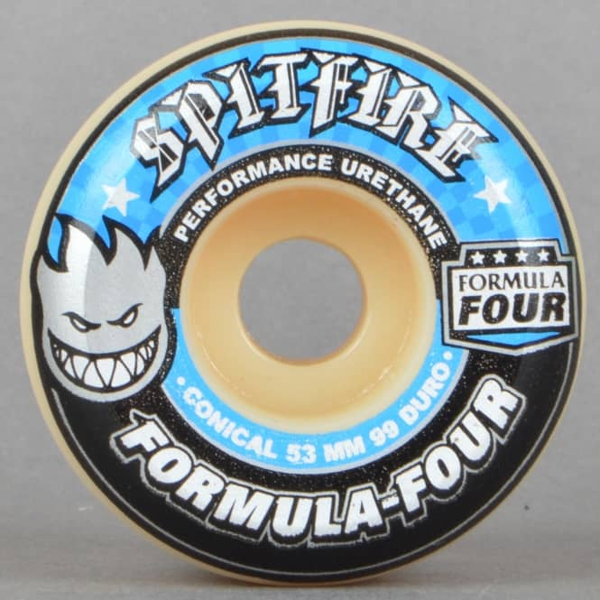 Spitfire Wheels Formula Four Conical 99D Skateboard Wheels 53mm