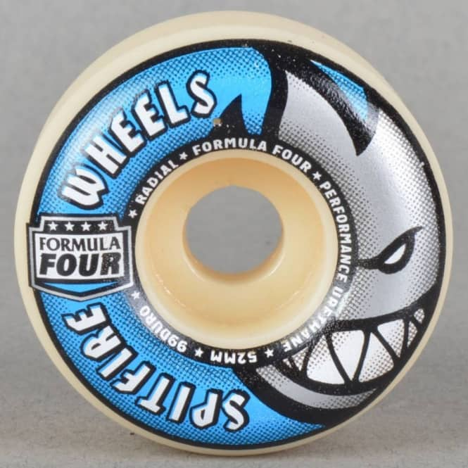 Spitfire Wheels Formula Four Radials 99D Skateboard Wheels 52mm