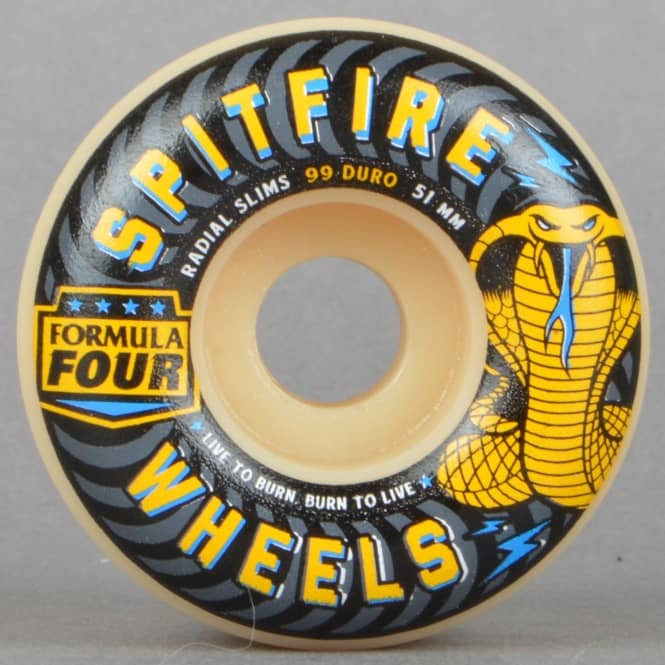 Spitfire Wheels Formula Four Speed Kills Radial Slims 99D Skateboard Wheels 51mm